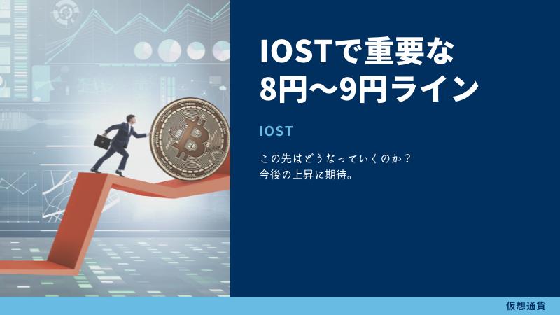IOSTはどこまで上がるのかを予想するのに重要な8円〜9円のラインについて
