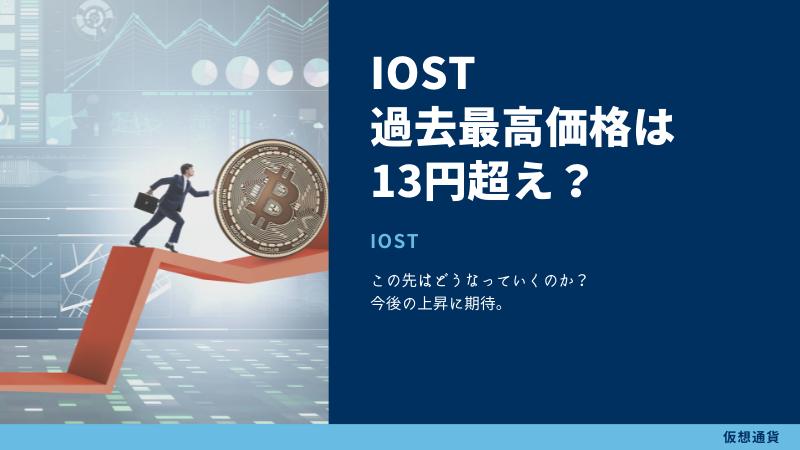IOSTの値段推移〜過去の最高価格は13円〜